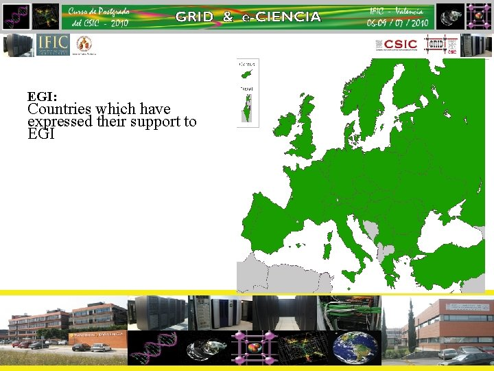 EGI: Countries which have expressed their support to EGI