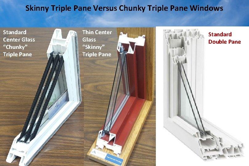 "Skinny Triple Pane Versus Chunky Triple Pane Windows Standard Center Glass ""Chunky"" Triple Pane"
