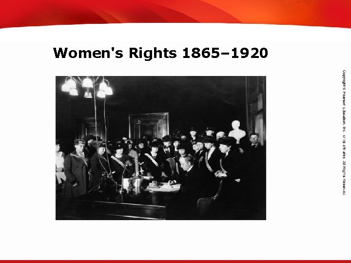 TEKS 8 C: Calculate percent composition and empirical and molecular formulas. Women's Rights 1865–