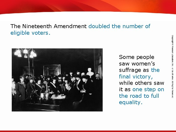TEKS 8 C: Calculate percent composition and empirical and molecular formulas. The Nineteenth Amendment