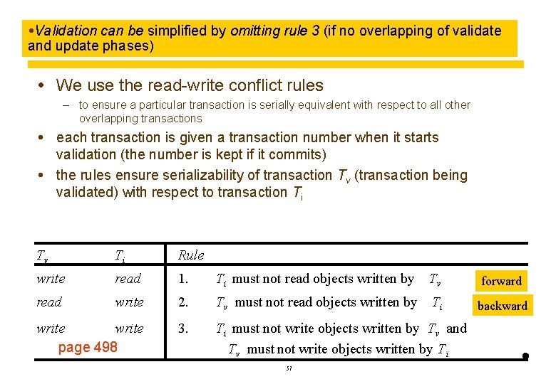 Validation can be simplified by omitting rule 3 (if no overlapping of validate