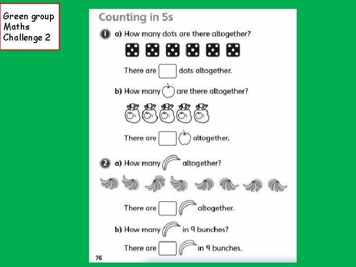 Green group Maths Challenge 2