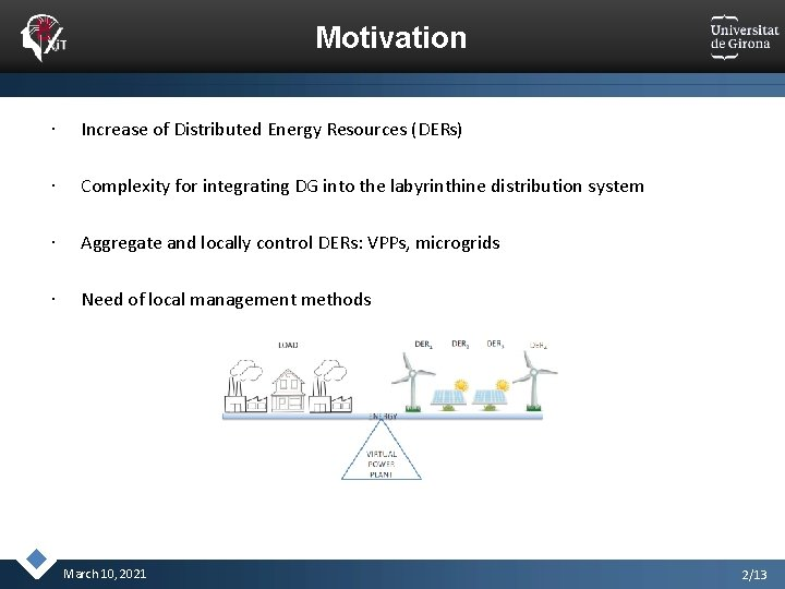 Motivation Increase of Distributed Energy Resources (DERs) Complexity for integrating DG into the labyrinthine