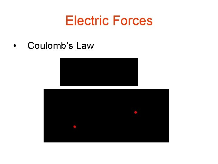 Electric Forces • Coulomb's Law