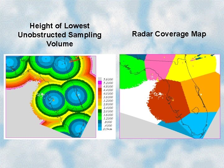 Height of Lowest Unobstructed Sampling Volume Radar Coverage Map