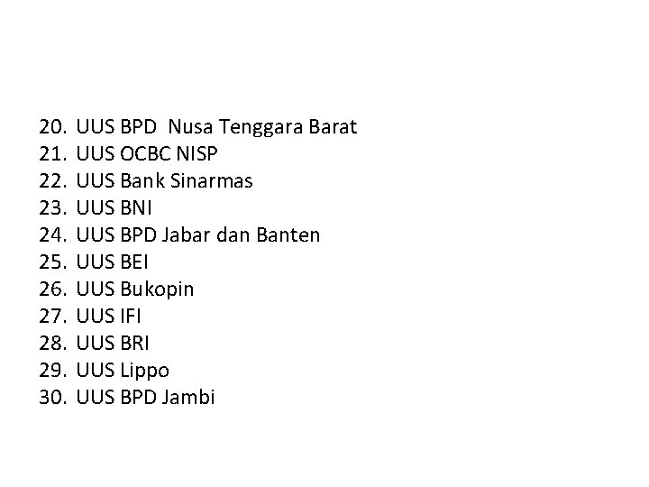 20. 21. 22. 23. 24. 25. 26. 27. 28. 29. 30. UUS BPD Nusa