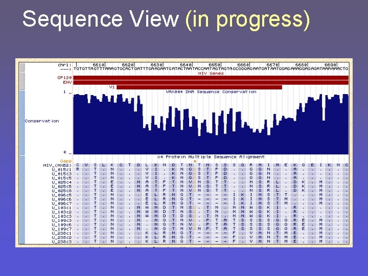 Sequence View (in progress)