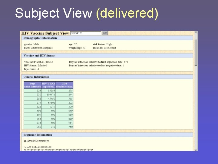 Subject View (delivered)
