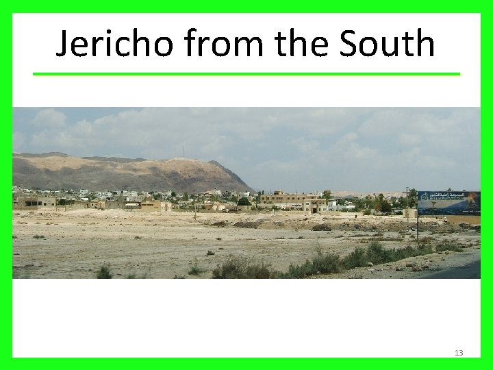 Jericho from the South 13