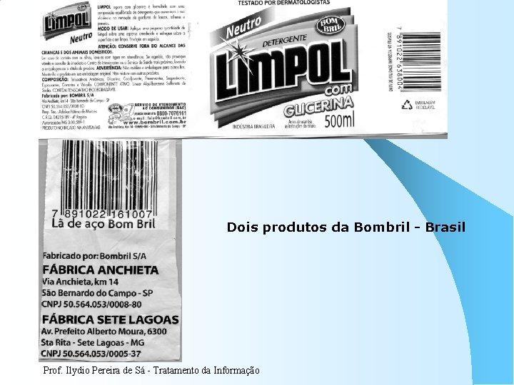 Dois produtos da Bombril - Brasil Prof. Ilydio Pereira de Sá - Tratamento da