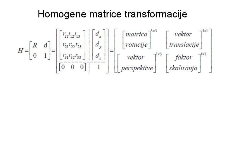 Homogene matrice transformacije