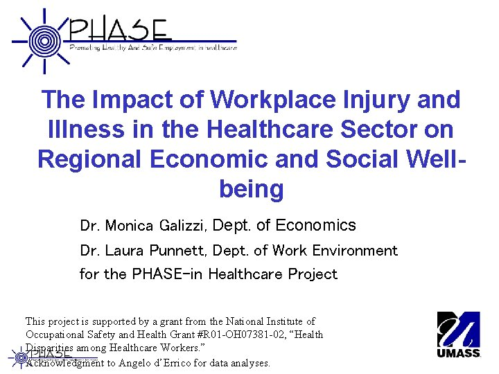 The Impact of Workplace Injury and Illness in the Healthcare Sector on Regional Economic