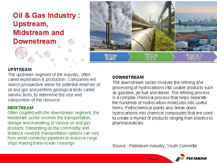 Oil & Gas Industry : Upstream, Midstream and Downstream UPSTREAM The upstream segment of