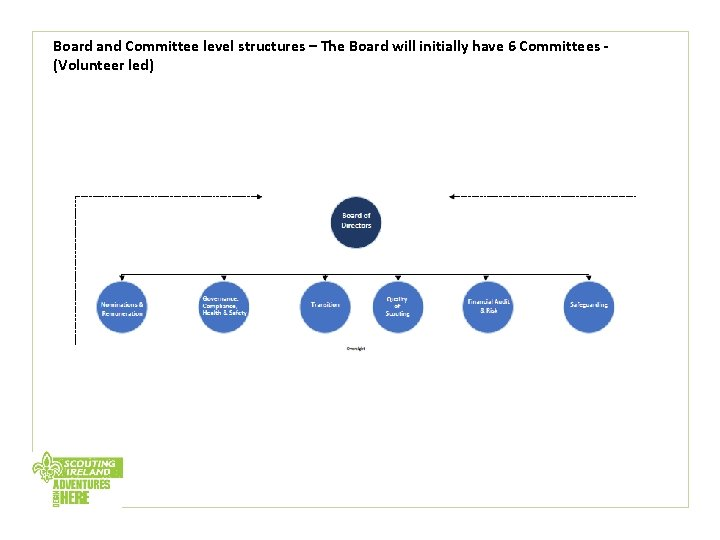 Board and Committee level structures – The Board will initially have 6 Committees -