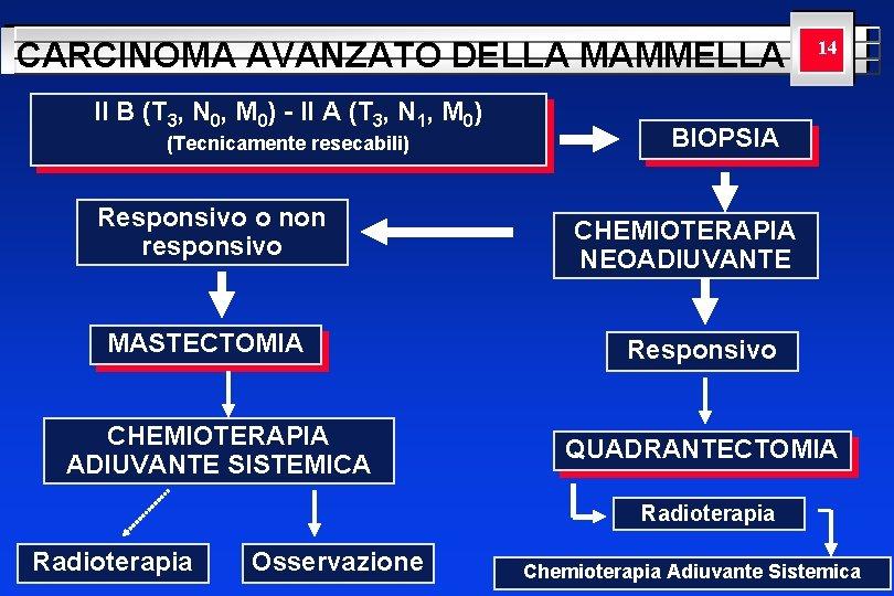 CARCINOMA AVANZATO DELLA MAMMELLA II B (T 3, N 0, M 0) - II