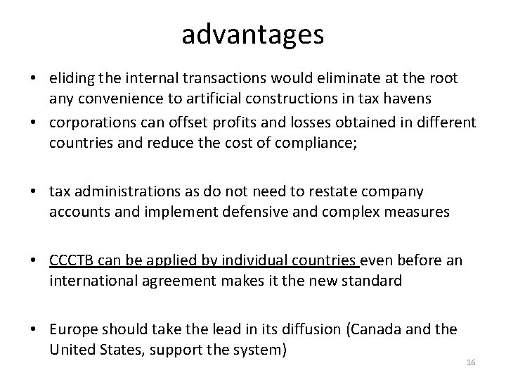 advantages • eliding the internal transactions would eliminate at the root any convenience to