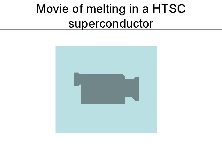 Movie of melting in a HTSC superconductor