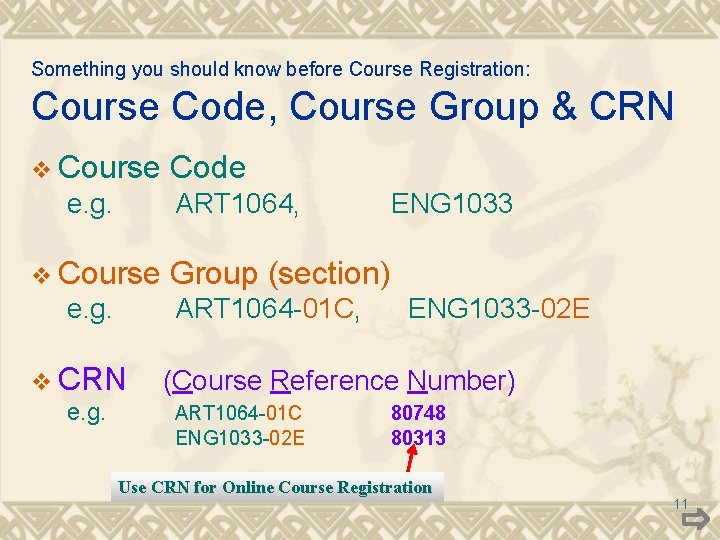 Something you should know before Course Registration: Course Code, Course Group & CRN v