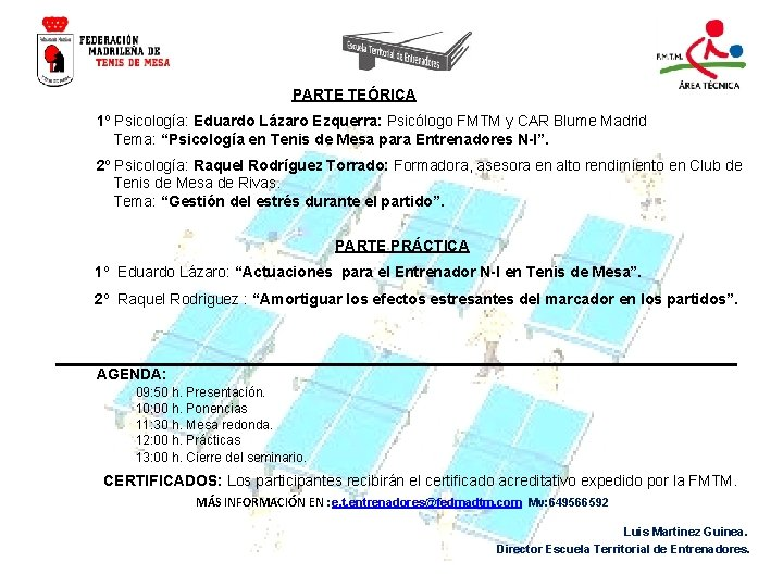 PARTE TEÓRICA 1º Psicología: Eduardo Lázaro Ezquerra: Psicólogo FMTM y CAR Blume Madrid Tema: