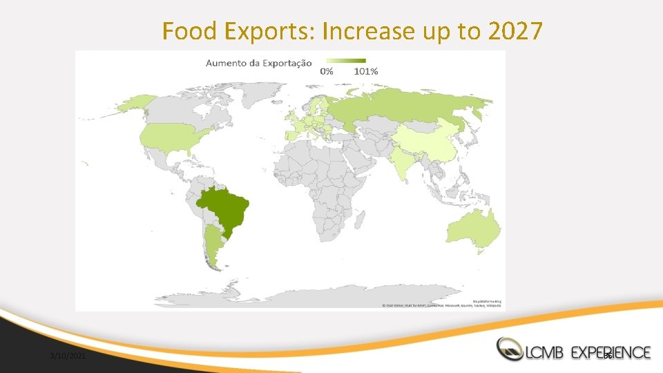 Food Exports: Increase up to 2027 3/10/2021 36