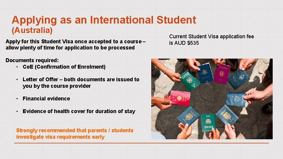 Applying as an International Student (Australia) Apply for this Student Visa once accepted to