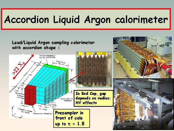 Accordion Liquid Argon calorimeter >2 2 X 0 Lead/Liquid Argon sampling calorimeter with accordion