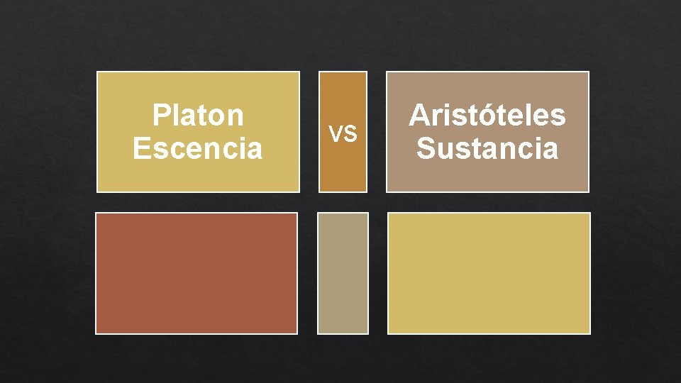 Platon Escencia vs Aristóteles Sustancia