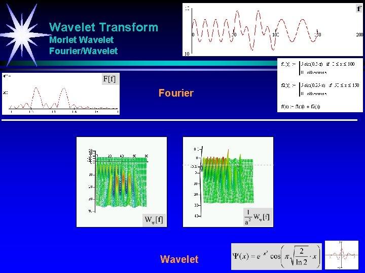 Wavelet Transform Morlet Wavelet Fourier/Wavelet Fourier Wavelet