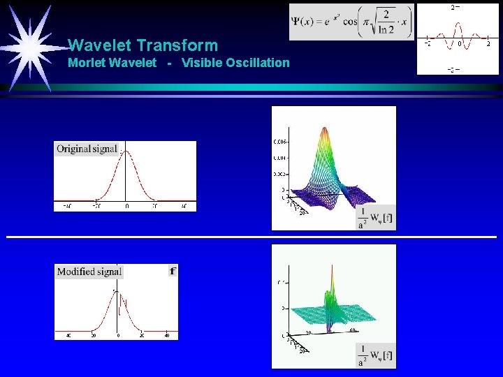 Wavelet Transform Morlet Wavelet - Visible Oscillation