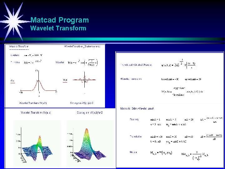 Matcad Program Wavelet Transform