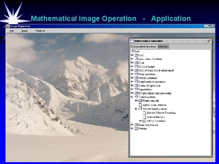 Mathematical Image Operation - Application