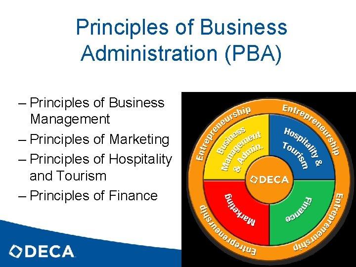 Principles of Business Administration (PBA) – Principles of Business Management – Principles of Marketing
