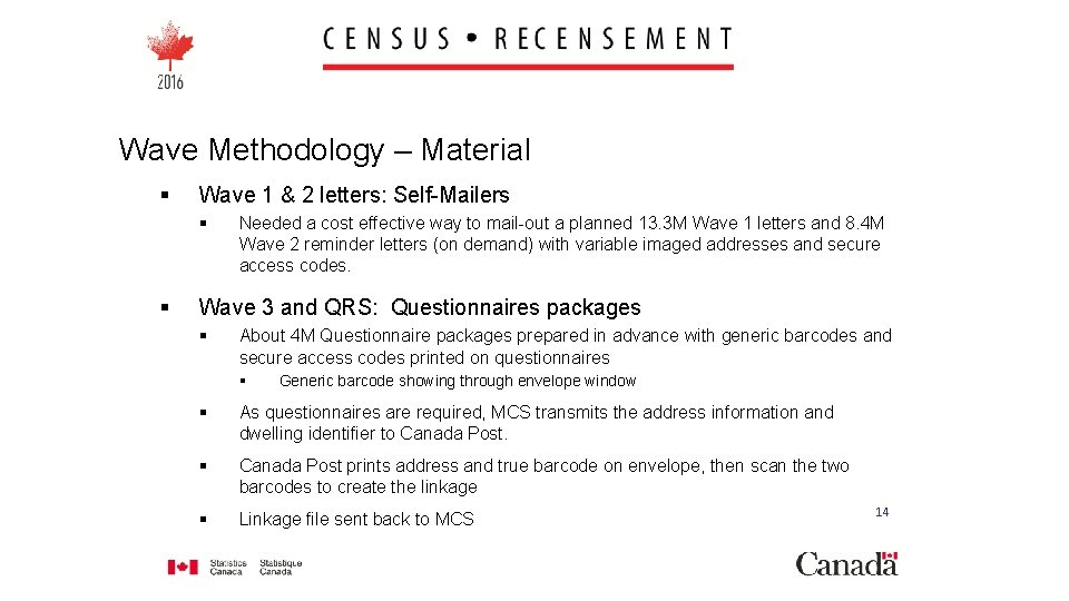 Wave Methodology – Material § Wave 1 & 2 letters: Self-Mailers § § Needed
