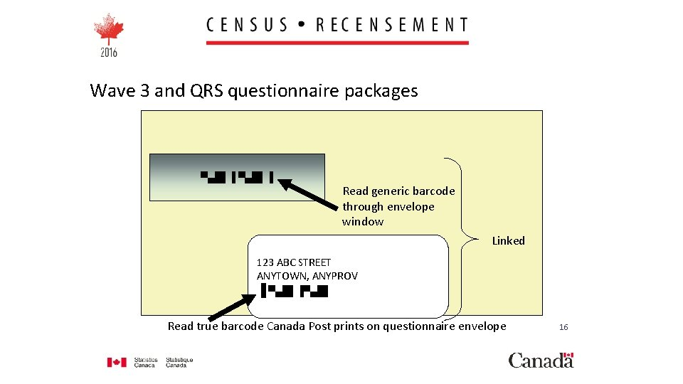 Wave 3 and QRS questionnaire packages ▀▄█▌▐ Read generic barcode through envelope window Linked
