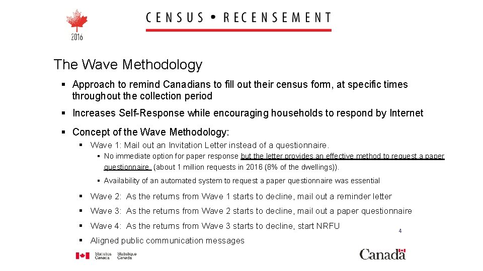 The Wave Methodology § Approach to remind Canadians to fill out their census form,
