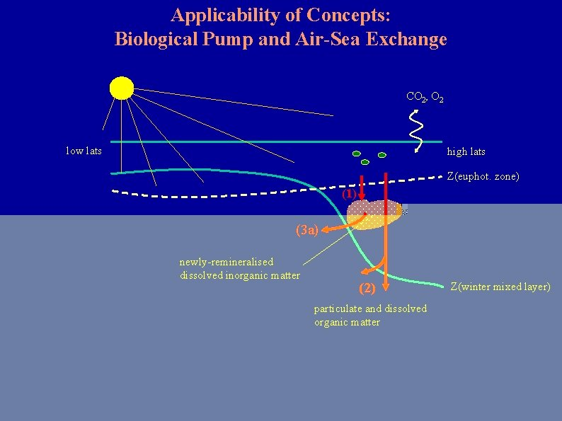 Applicability of Concepts: Biological Pump and Air-Sea Exchange CO 2, O 2 low lats