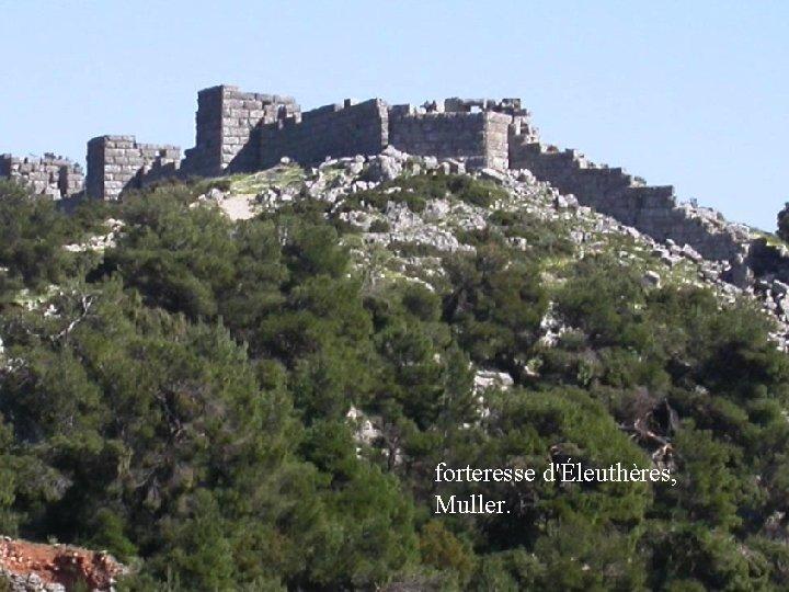 forteresse d'Éleuthères, Muller.