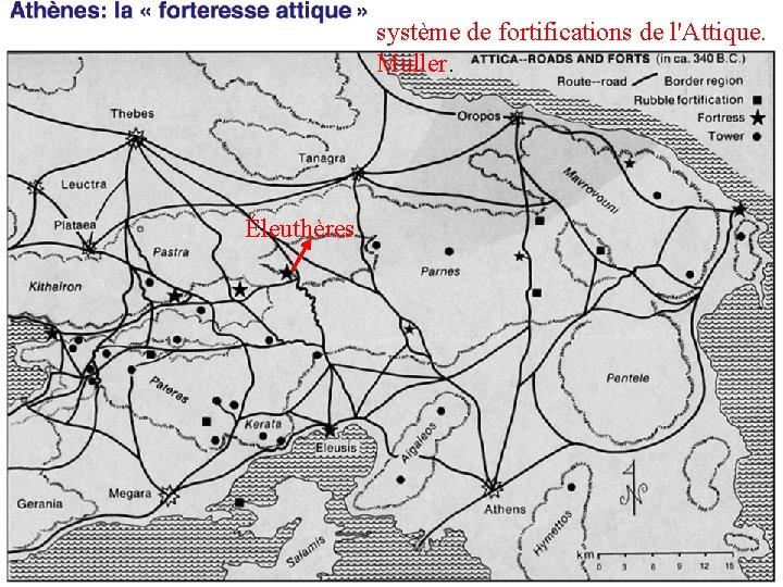 système de fortifications de l'Attique. Muller. Éleuthères