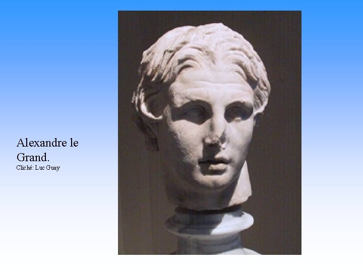Alexandre le Grand. Cliché: Luc Guay