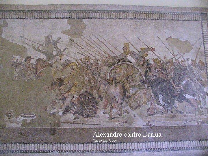 Alexandre contre Darius. Cliché Luc Guay