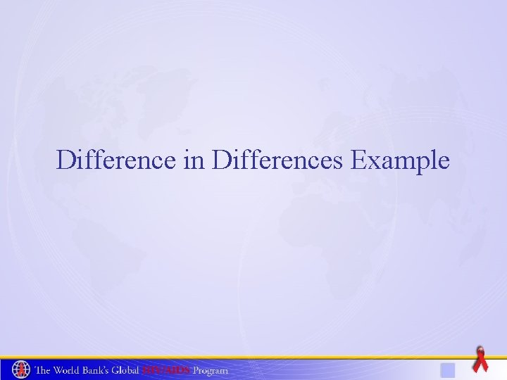 Difference in Differences Example