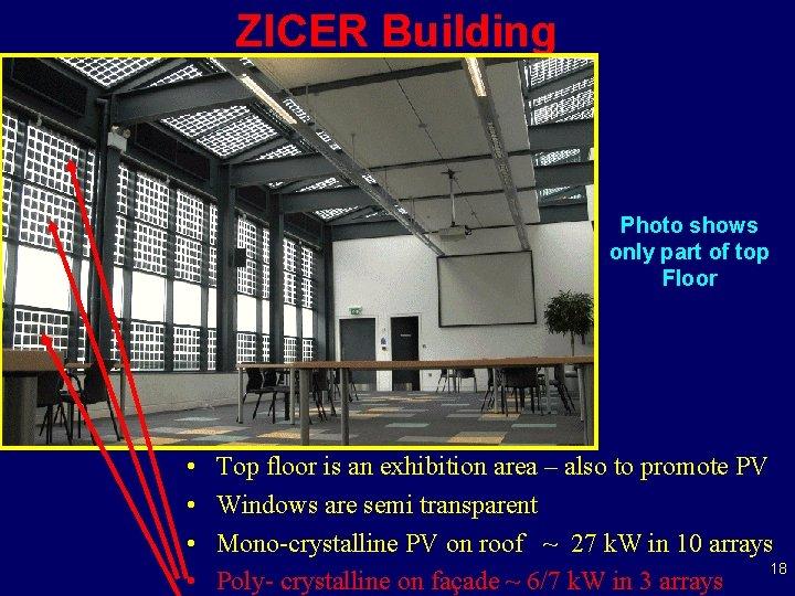 ZICER Building Photo shows only part of top Floor • • Top floor is