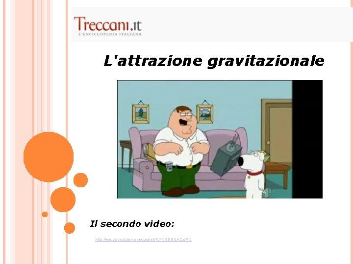 L'attrazione gravitazionale Il secondo video: http: //www. youtube. com/watch? v=tj. NEEUACg. PQ
