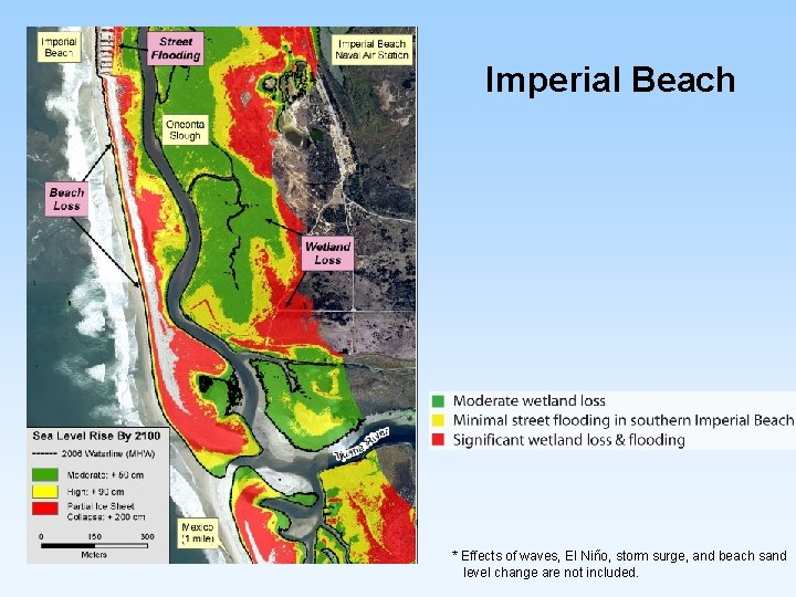 Imperial Beach * Effects of waves, El Niño, storm surge, and beach sand level