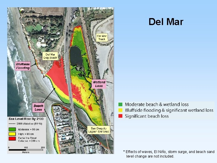 Del Mar * Effects of waves, El Niño, storm surge, and beach sand level