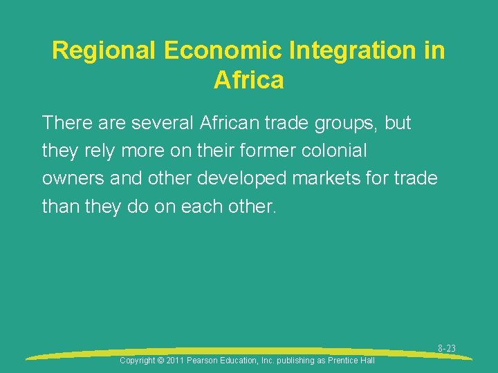 Regional Economic Integration in Africa There are several African trade groups, but they rely