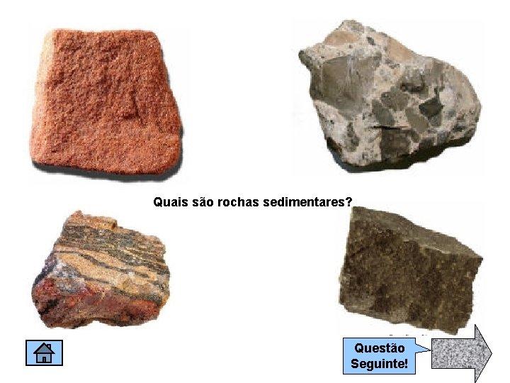 Quais são rochas sedimentares? Questão Seguinte!