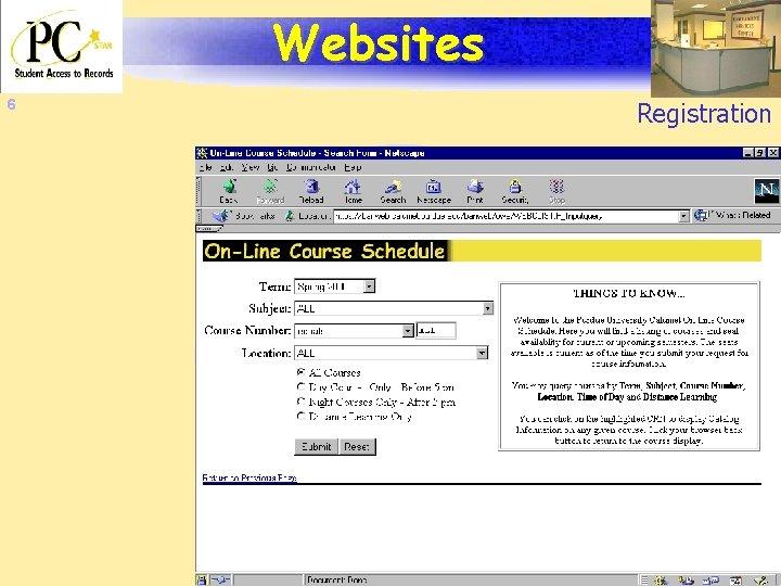 Websites 6 Registration