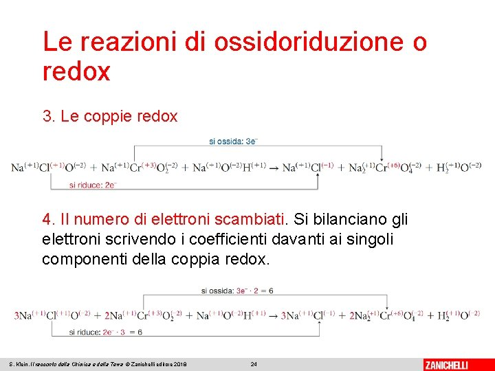 Le reazioni di ossidoriduzione o redox 3. Le coppie redox 4. Il numero di
