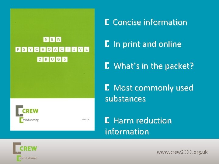 Page 26 Concise information In print and online What's in the packet? Most commonly